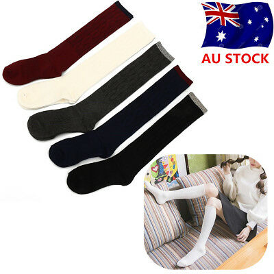 Women Cashmere Wool Knee-High Solid Warm Thick Soft Comfort Boot Socks Winter