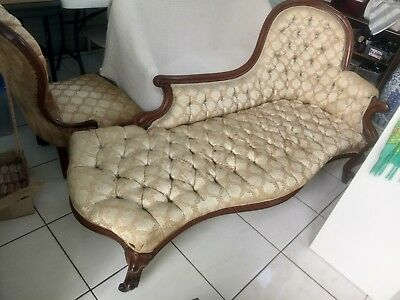 Antique Victorian Georgian Chaise Lounge Parlour original
