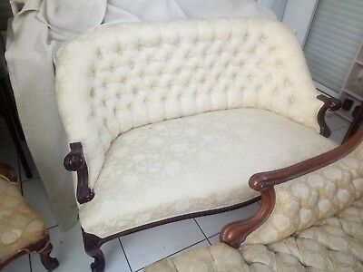 Antique Victorian Georgian 3 seater Lounge Parlour original restored