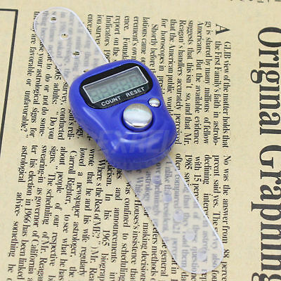 1 Pc Digit Digital Electronic Hand Held Finger Rings Plastic Tally Counter New