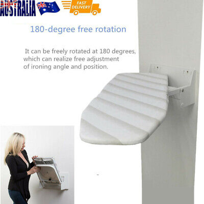 Foldable Wall Mounted Ironing Board -space saving in laundry or kitchen AU Stock