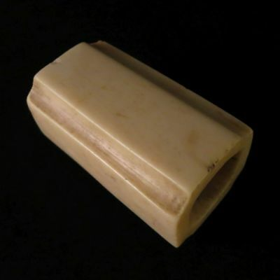 Japanese Antique Netsuke Square Cut cornercarved in Meiji era Stag horn 1.6""