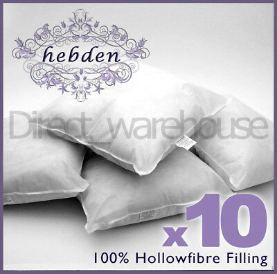 Cushion Pads Hollowfibre Inserts Fillers Inners Scatters Rectangular Pack of 10