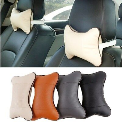 1Pc Leather Cushion Pad Headrest Seat Head Neck Rest Bone Pillow Safety Pillows