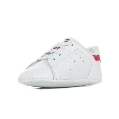 7318bbe98c660 Chaussures Baskets adidas bébé Stan Smith Crib taille Blanc Blanche Cuir
