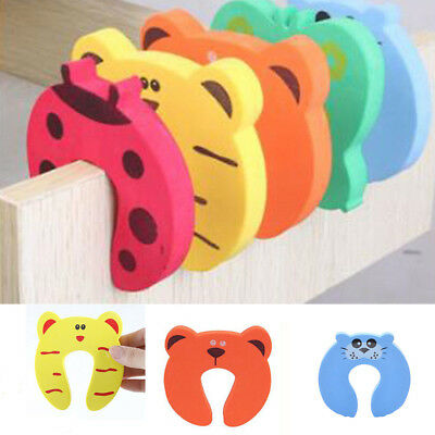 5/10pcs Cartoon Children Thickening Door Stopper Safety Clip Clamp Pinch Hand