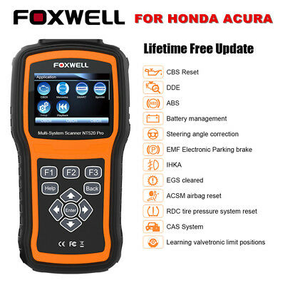 FOXWELL NT520PRO OBD2 Scanner Diagnostic Full System ABS SRS