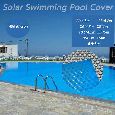 Solar Swimming Pool Cover 400 Micron Outdoor Bubble Blanket 8 Sizes