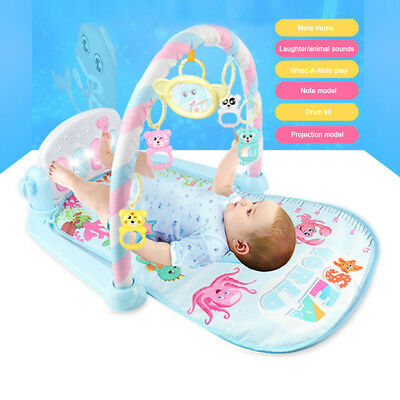 3 in 1 Fitness Baby Gym Play Mat Lay Play Music And Lights Fun Piano Boy Girl UK