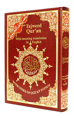 Tajweed Quran with Meanings Translation in English 17x24cm Qur'an English Mushaf