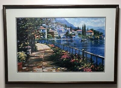 Limited Edition Embellished Print on Canvas By Artist Howard Behrens (1933-2014)