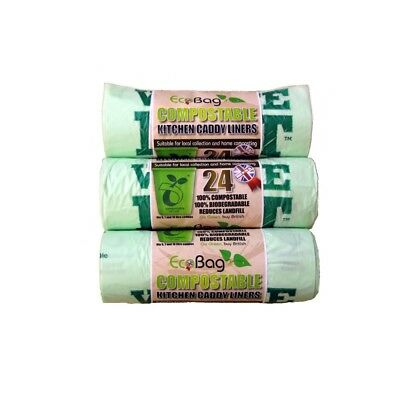Ecobag 24 Compostable Caddy Liners, 10l