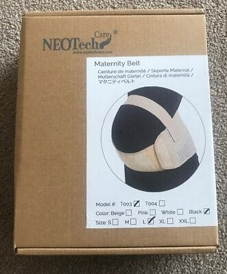 NEOTech Care Maternity Belt Brand New In Black Size Large