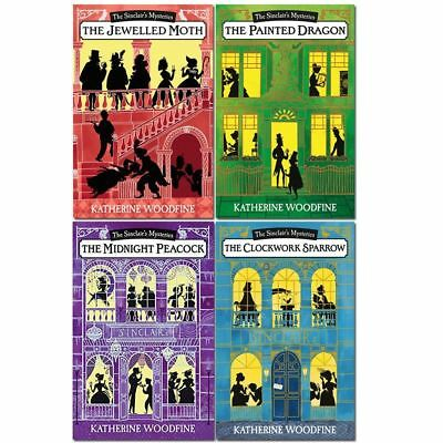 Katherine Woodfine The Sinclairs Mysteries 4 Books Collection Set Pack