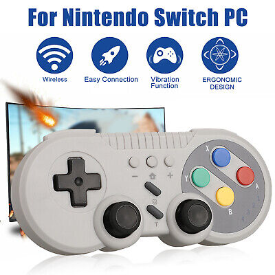 For Nintendo Switch Wireless Bluetooth Pro Game Controller Classic Gamepad Gray