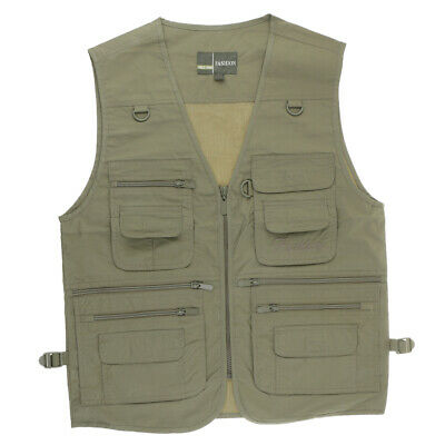 Fly Fishing Vest Photography Waistcoat Outdoor Hunting Jacket Size L - 4XL