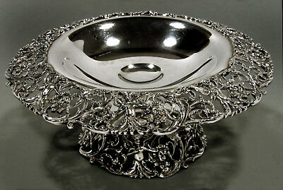 American Sterling Compote    c1920  -  ANGELS HOLDING LION HEADS  -     29 OZ.