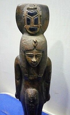 RARE ANCIENT EGYPTIAN ANTIQUE HATSHEPSUT QUEEN with Scarab 1479-1458 BC
