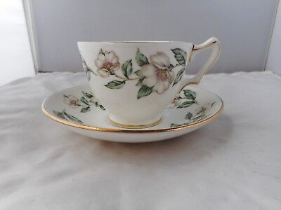 CROWN STAFFORDSHIRE CUP(6.5cms high)&SAUCER(14cms diameter)
