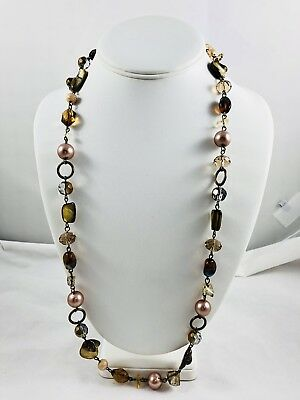 """Beautiful Glass And Mother Of Pearl  Necklaces-28"""""""