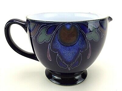 Denby Langley Baroque Creamer Pitcher Handcrafted England Art Nouveau Style
