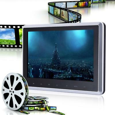 "NEW! HDMI 10"" HD Digital LCD Screen Car Headrest Monitor DVD/USB/SD Player IR/FM"