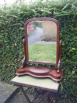 Antique Victorian Mahogany Very Large Dressing Table Mirror REDUCED QUICK SALE!