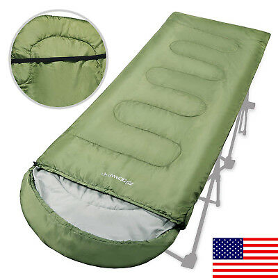 Warm Weather Adults Sleeping Bag for Camping lightweight Portable 50-60 Degree