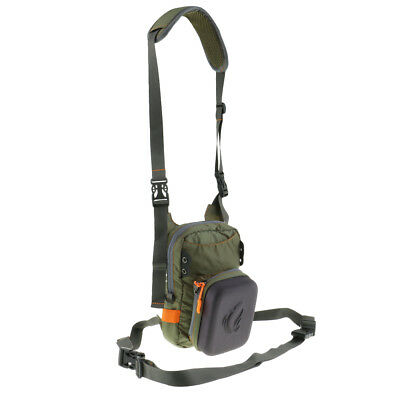 Fly Fishing Chest Bag with Molded Fly Patch Fishing Tackle Bag Waist Pack