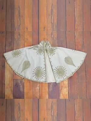 Vintage Cream and Gold Shabby Original Victorian Cape