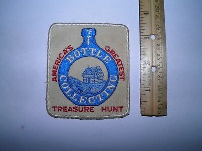 vintage bottle collecting patch