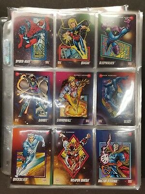 1992 Impel Marvel Universe  200 Card Complete Set Thanos, Avengers Infinity War