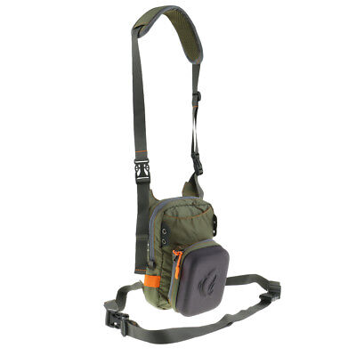 Fly Fishing Chest Waist Pack Lightweight Compact Tackle Bag with Fly Patch