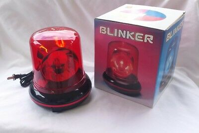 Vintage NOS RED DOME BLINKER POLICE BEACON LIGHT LAMP approx 8 inches tall