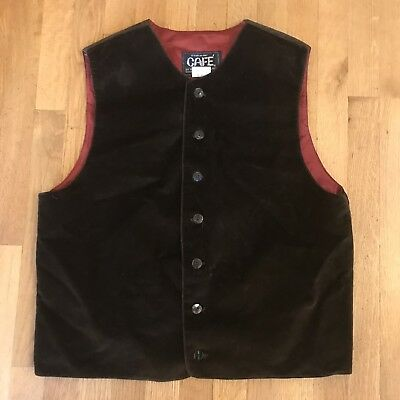 Colonial Revolutionary War Pirate Mens Brown Waistcoat Vest steampunk Med Lg