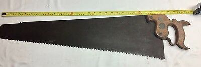 Rare Antique Eagle Works  Ibbotson & Peace Co Hand Saw Sheffield  Monster Saw