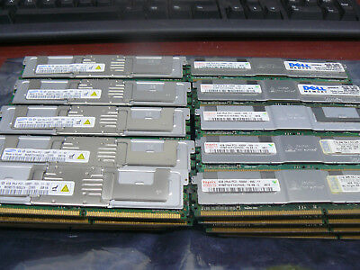 Lot of 40  4GB PC2-5300F DDR2 RAM various brands Matched Pairs