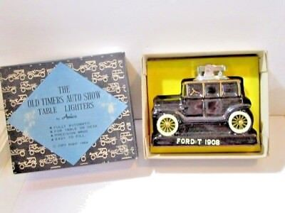 Japan Lighter In Box Ford T 1908 Model Ceramic Table Auto Show By Amico 1964 Box