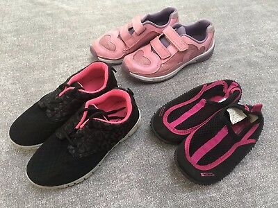 Girls Shoes Trainers Clarks Mountain Warehouse School Size 11f Bundle Pink Black