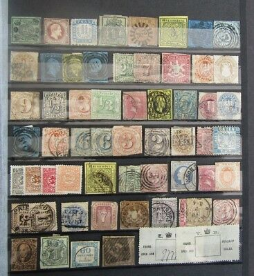 German States - Early Collection On Large Stocksheet