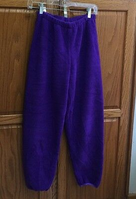 CHERRY TREE PROVIDENCE RI girl 14/16 purple fleece POLARTEC pant ski NOS VTG NEW
