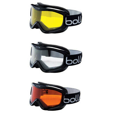 Bolle Mojo Ski Goggles (Shiny Black Frames) - Choose Lens!