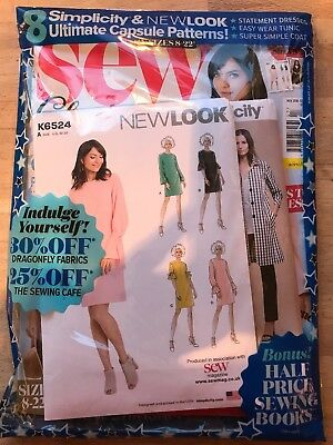 SEW MAGAZINE NOV 2018 ISSUE WITH Simplicity & NEW LOOK ULTIMATE CAPSULE PATTERN