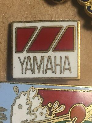 Yamaha Racing Lapel pin red white and gold