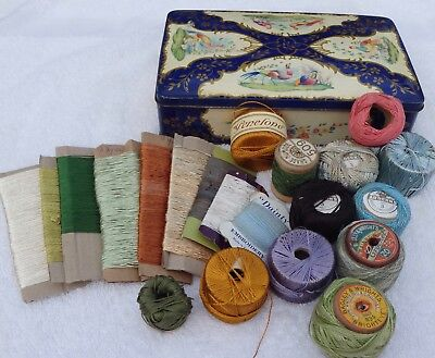 1940s Vintage And Salvaged Threads Embroidery Cottons Artificial Silks Tapestry