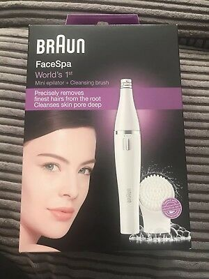 Braun Face Spa 810  Mini Epilator with Facial Cleansing Brush