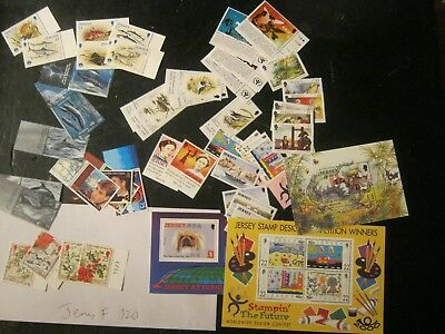 Jersey  (F)  Mostly Unmounted Mint Sets  Face £60  In 3 Photos Postfree Uk