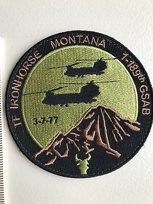 Army Aviation Patch For TF Ironhorse, 1-189 GSAB Montana ARNG.