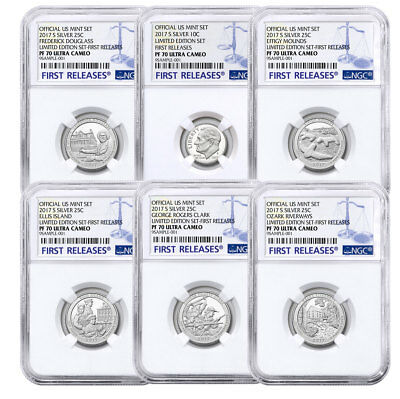 6-Coin Set - 2017-S Limited Edition Silver Proof Coins NGC PF70 UC FR SKU51987