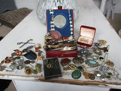 large collection of antique and vintage jewellery unusual lot..